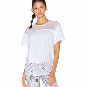 Adidas Stella McCartney White Mesh Tshirt